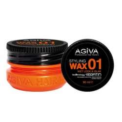 Agiva Hair Styling Wax 01 Wet Look Orange (90ml)